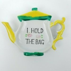 Other - Vtg Japan I Hold The Bag Teabag Holder Teapot Tray